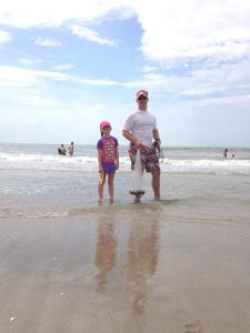 ava and dad at beach